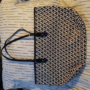 Ralph Lauren Black & Cream Tote Bag